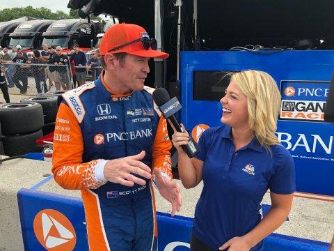 Interviewing Scott Dixon, Indycar NBC