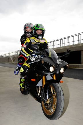 Katie and Cal Pitlane